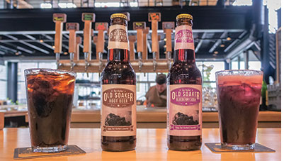 Old Soaker Blueberry Soda and Root Beer