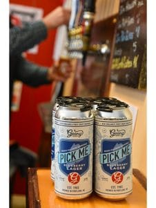 """Pick Me"" Blueberry Lager by Geary Brewing Company"