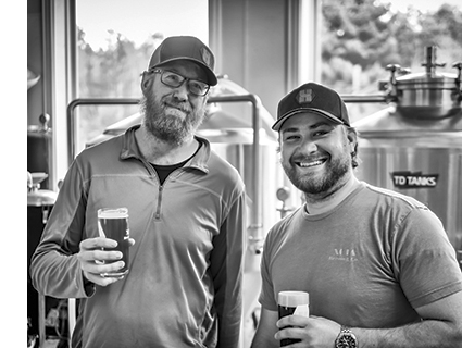 Xota Brewers Jay Horne and Josh Charette